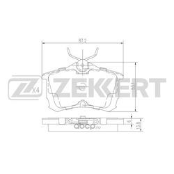 Колодки торм. диск. зад Honda Accord VI VII 97- (Zekkert) BS1736