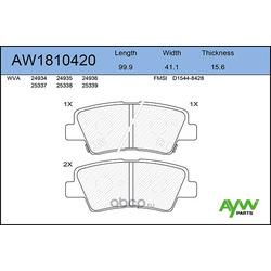 Колодки тормозные задние (AYWIparts) AW1810420