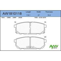 Колодки тормозные задние (AYWIparts) AW1810118