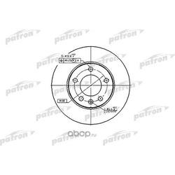 Диск тормозной задний (PATRON) PBD2805
