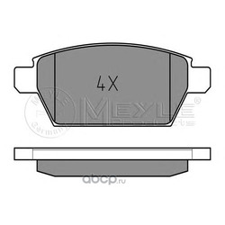 Комплект тормозных колодок, дисковый тормоз (Meyle) 0252458114