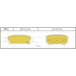 Колодки тормозные дисковые (Blitz) BB0316