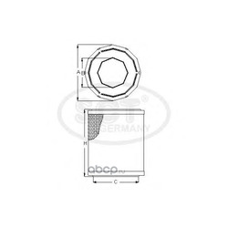 Воздушный фильтр (SCT) SB2274