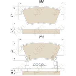 Колодки тормозные HYUNDAI: ACCENT IV (RB) 10-, SONATA V (NF) 05- KIA: SOUL (AM) 09- (KOTL) 3494KT