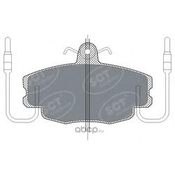 Колодки торм.FR (SCT) SP189