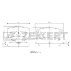 Тормозные колодки задн. CALIBER, COMPASS, JS /диск./ BR1 (неоригинал) (Zekkert) BS1359