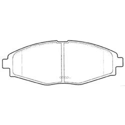 Колодки тормозные дисковые (FIT) FP1321