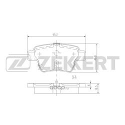 Колодки торм. диск. зад Citroen C4 04- Peugeot 207 06- 307 02- (Zekkert) BS1144