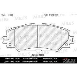 Колодки тормозные TOYOTA AURIS 1.4-1.6 07-/COROLLA 1.4 07-/RAV 4 06- передние (Miles) E100135