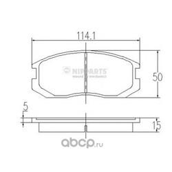 Колодки тормозные, комплект, передние (Nipparts) J3605032
