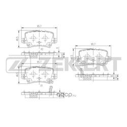 Колодки торм. диск. зад Honda Civic VIII 05- (Zekkert) BS1749