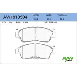 Колодки тормозные передние (AYWIparts) AW1810504