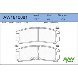 Колодки тормозные задние (AYWIparts) AW1810081