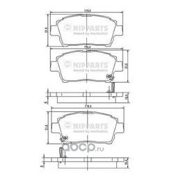 Комплект тормозных колодок, дисковый тормоз (Nipparts) J3602088