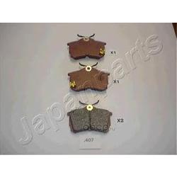 Комплект тормозных колодок, дисковый тормоз (Japanparts) PP407AF
