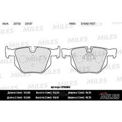 Колодки тормозные BMW E90/E91/E60/E61/E70/E71 задние (Miles) E110282