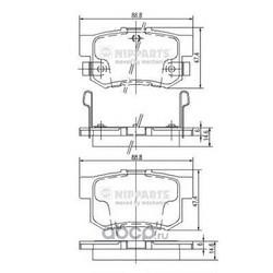 Комплект тормозных колодок, дисковый тормоз (Nipparts) J3614008