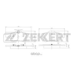 Колодки торм. диск. зад Ford C-Max I II 07- FocusII 04- Mazda 3 I 03- Opel Vectra C 02- Volvo (Zekkert) BS1600