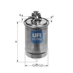 Топливный фильтр (UFI) 2439100