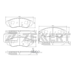 Комплект тормозных колодок, дисковый тормоз (Zekkert) BS2810