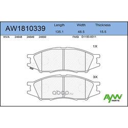 Колодки тормозные передние (AYWIparts) AW1810339