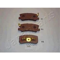 Комплект тормозных колодок, дисковый тормоз (Japanparts) PP505AF