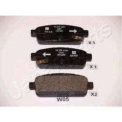 Колодки тормозные дисковые задние, комплект (Japanparts) PPW05AF