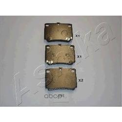 Колодки тормозные дисковые задние, комплект (Ashika) 5105592