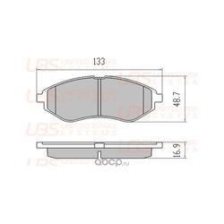Колодки тормозные дисковые передние, комплект (UBS) B1104009