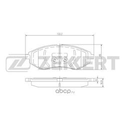 Колодки торм.диск. Chevrolet Aveo II (T250 T255) 06- Daewoo Kalos (KLAS) 02- FR (Zekkert) BS2812