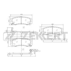 Колодки торм. диск. зад Mitsubishi Galant VII VIII 92- Pajero Pinin (H6 H7) 99- (Zekkert) BS1347