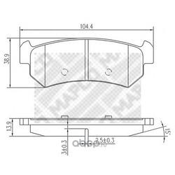 Комплект тормозных колодок, дисковый тормоз (Mapco) 6812