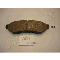 Комплект тормозных колодок, дисковый тормоз (Japanparts) PPW01AF