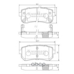 Комплект тормозных колодок, дисковый тормоз (Nipparts) J3610512