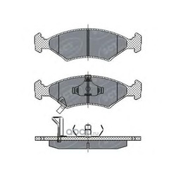 Колодки торм.FR (SCT) SP266