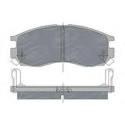 Колодки тормозные передние (MITSUBISHI) MR389541