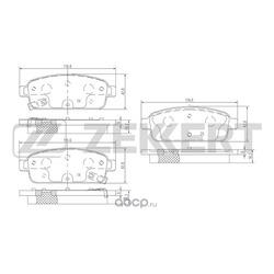 Колодки торм.диск. Chevrolet Cruze (J300) 09-/ Opel Astra J 09- Mokka 12- RE (Zekkert) BS1302