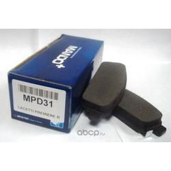 колодки дисковые задние с антискрип. пл.! OpelAstra, Chevrolet Cruze 1.4-2.0 09 (Mando) MPD31