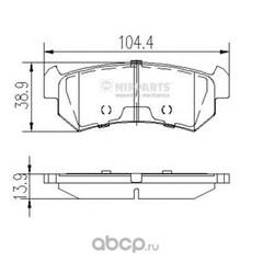 Комплект тормозных колодок, дисковый тормоз (Nipparts) J3610903