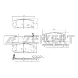 Колодки торм.диск. Chevrolet Captiva 06-/ Opel Antara 06- RE (Zekkert) BS1299