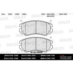 Колодки тормозные HYUNDAI TUCSON/KIA SPORTAGE 04- передние (Miles) E100028