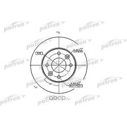 Диск тормозной передний (PATRON) PBD1015