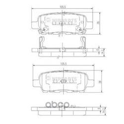Комплект тормозных колодок, дисковый тормоз (Nipparts) J3611044