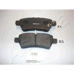Колодки тормозные дисковые задние, комплект (Ashika) 5101130
