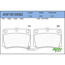 Колодки тормозные задние (AYWIparts) AW1810092