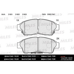 Колодки тормозные COROLLA 92>01/CARINA E 92>96/RAV 4 94>95 передние (Miles) E100213