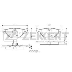Колодки торм. диск. зад BMW 3 (E36) 93- 3 (E46) 00- (Zekkert) BS1155