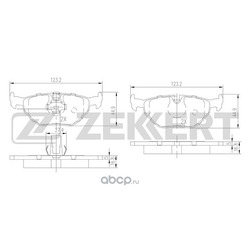 Колодки торм. диск. зад BMW 5 (E39) 95- (Zekkert) BS2850