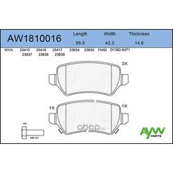 Колодки тормозные передние (AYWIparts) AW1810016