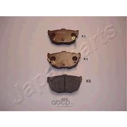 Колодки тормозные дисковые задние, комплект (Japanparts) PP595AF